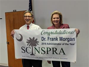 Morgan and Byrd receive statewide recognition from SC/NSPRA for their leadership in school communications