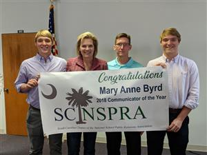 Mary Anne Byrd was named the 2018 SC/NSPRA Communicator of the Year